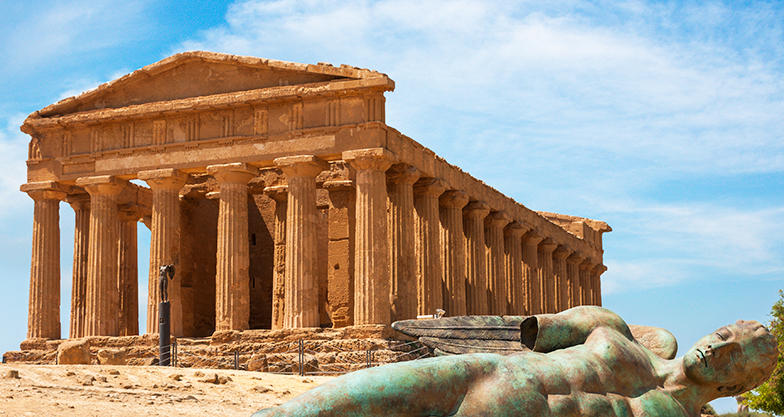 Concordia temple in the Valley of the Temples, Agrigento